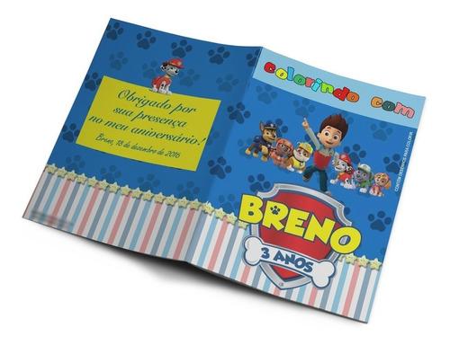 60 kits colorir revistinhas e giz de cera personalizados