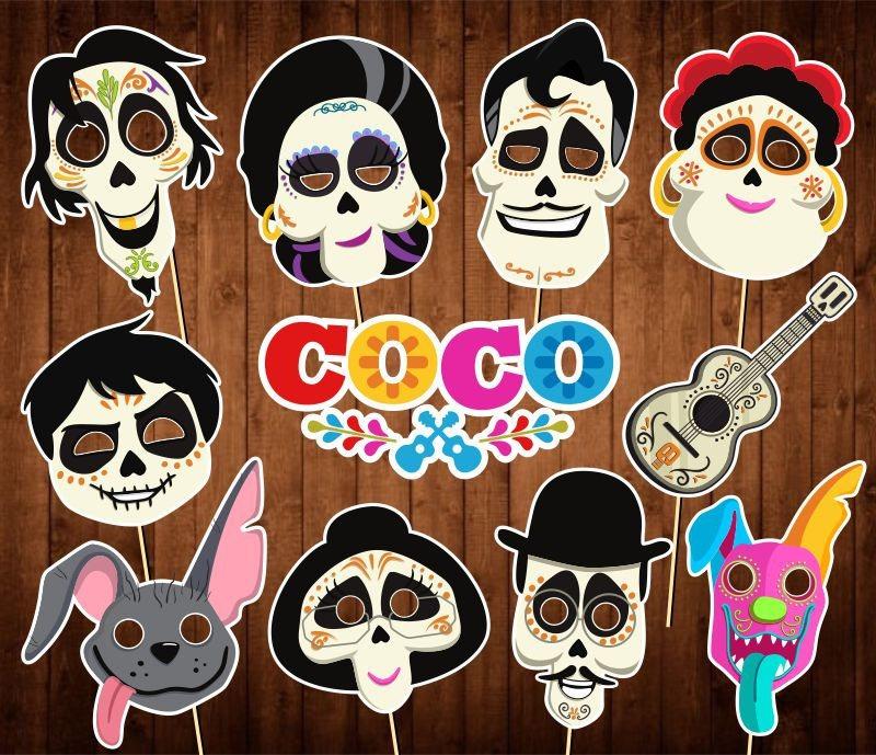 60 Mascaras Antifaces Coco Miguel Dante 549 00 En