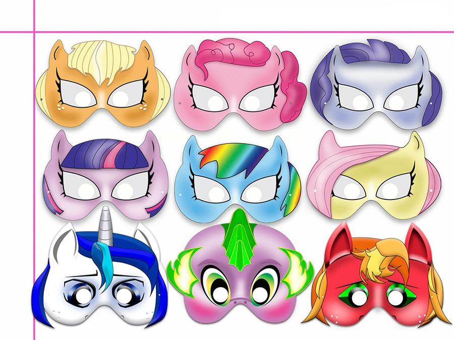f246d3d76cc 60 Mascaras Antifaces My Little Pony Pinkie Pie Rainbow Dash ...