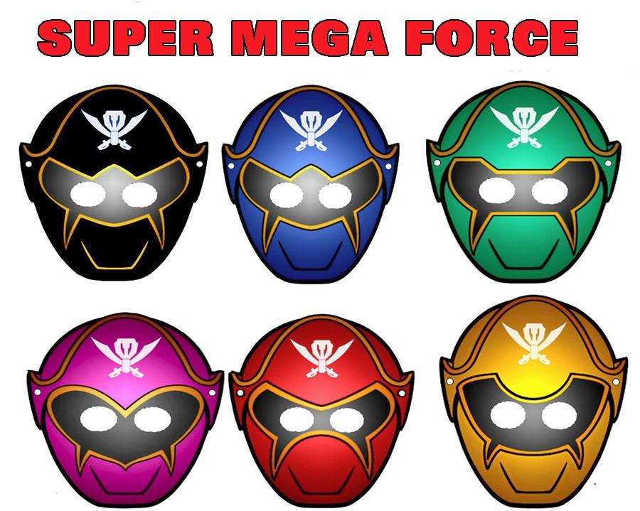 60 mascaras antifaces power rangers super mega force - Masque de power rangers ...