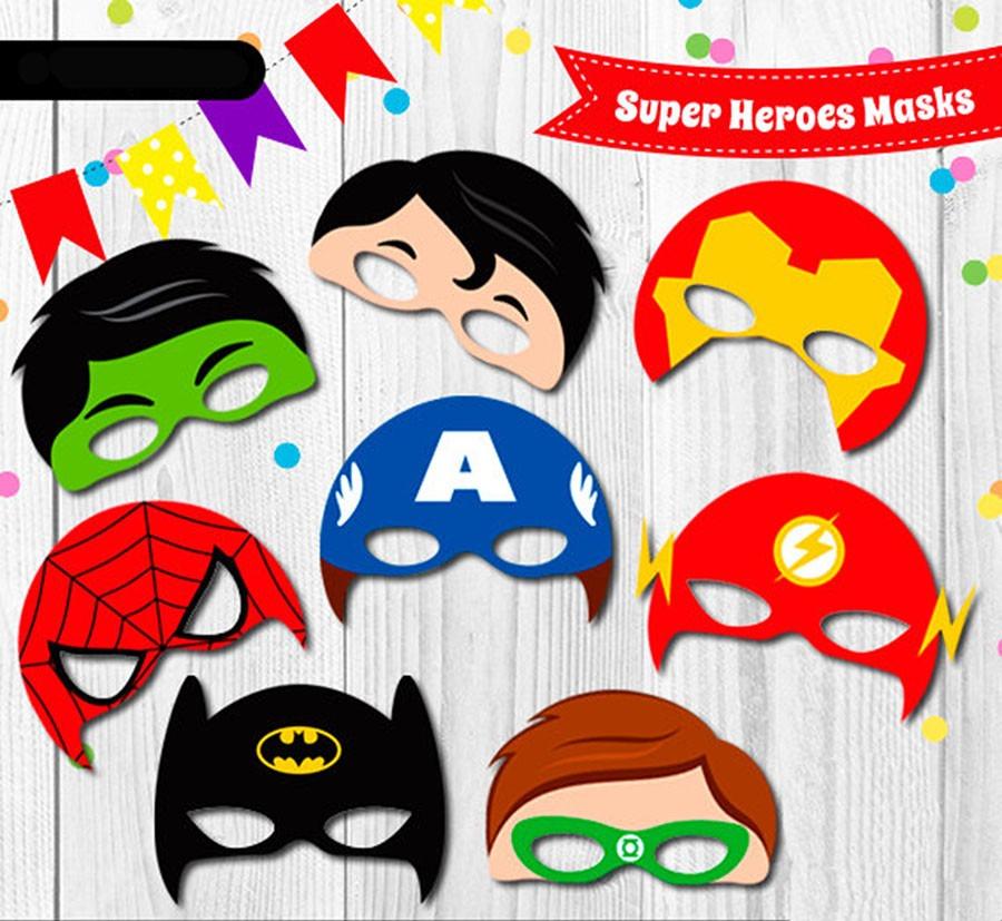 Marvel Super Heroes 60 Superhéroes: 60 Mascaras Antifaces Super Heroes Superman Batman