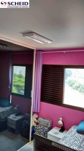 60 metros, 2 dormitórios, 1 vaga, área de laser, todo reformado - mc2249