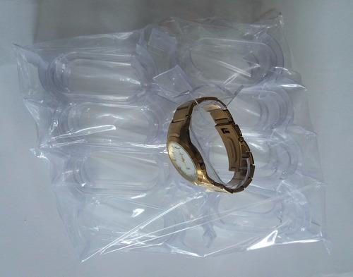 60 peças expositor relógio   acrilico transparente