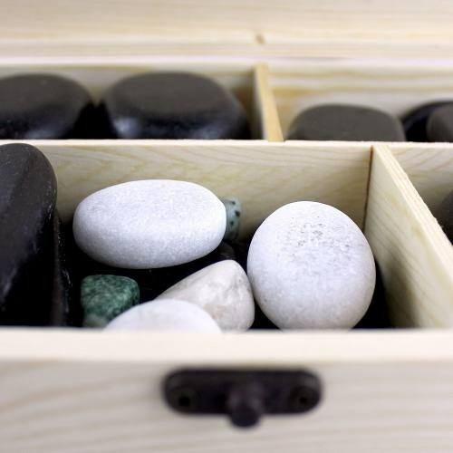 60 piedras calientes de basalto masajes terapias r4492