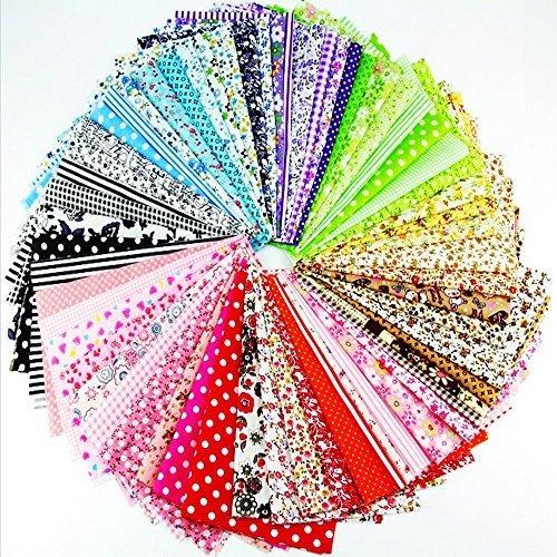 60 piezas surtidas tela artesanal paquete cuadrados patchwor