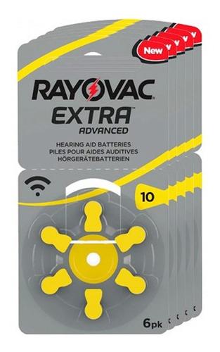 60 pilas audifono rayovac extra advanced nro 10 pr70 1,45v