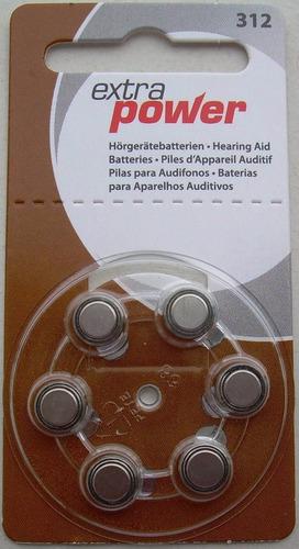 60 pilhas aparelho auditivo a312, bateria auditiva 312,power