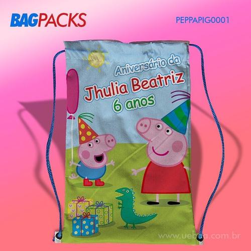 60 sacolinha mochila aniversario infantil personalizada