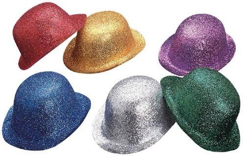 60 Sombreros Diamantado Brillantina Bombin Colores Sombrero ... 1b83e2e8a95