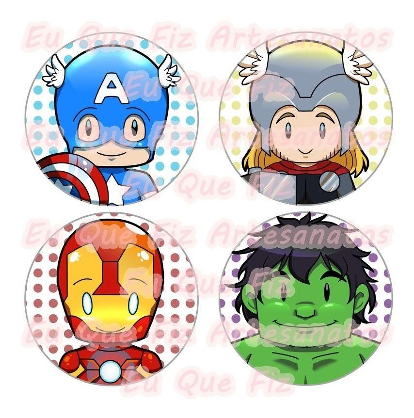 60 Tags Toppers Doces E Cupcakes Avengers Vingadores R 35 00 Em