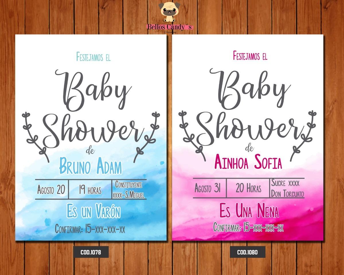 60 Tarjeta De Invitación De Baby Shower