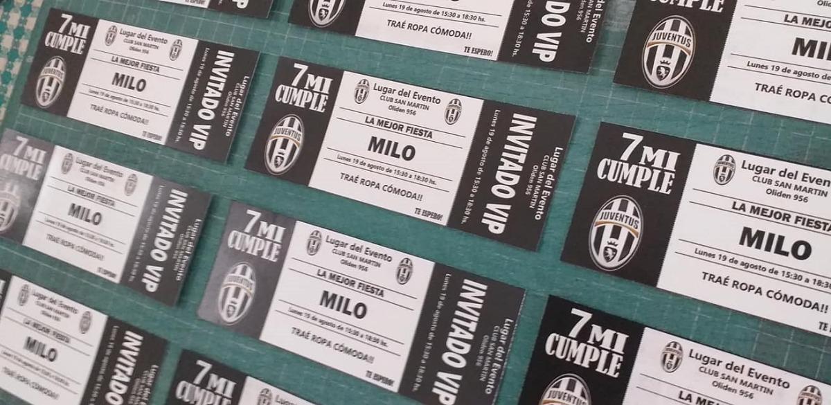 60 Tarjeta Invitación Cumpleaños Juventus