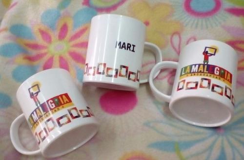 60 tazas con tu foto o logo y texto de polímero