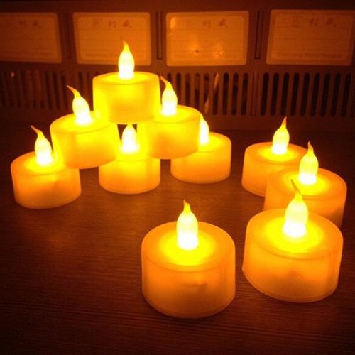 60 velas artificial de led decorativa eletrônica com bateria