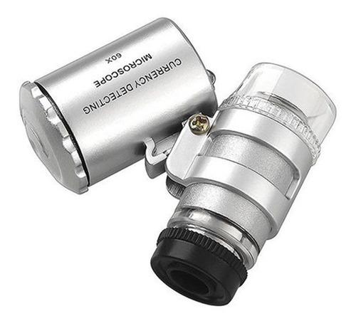 60 x lupa luz led portátil microscopio lupa joyero 2017 del