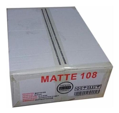 600 folhas papel fotografico matte fosco deko  a4 108 gramas