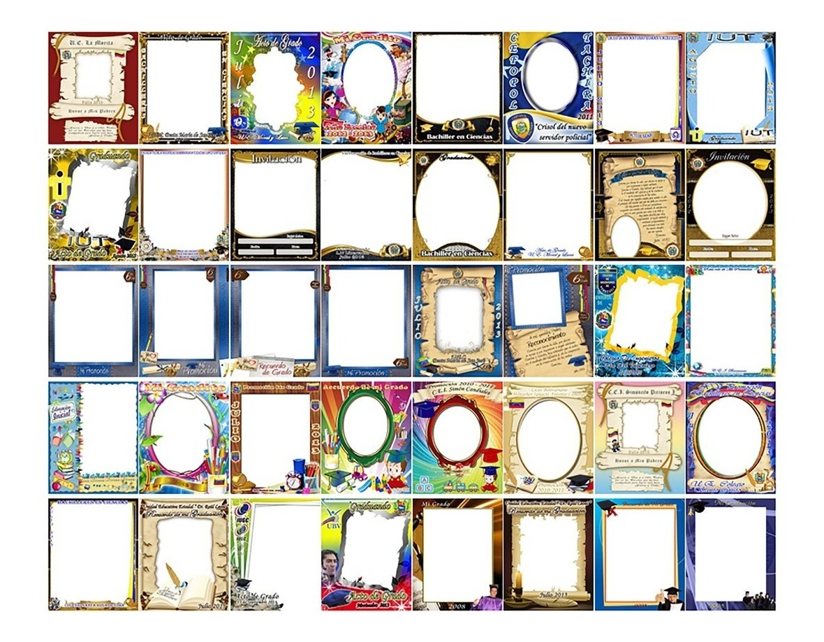 600 Plantillas Photoshop Editables Para Grados Formato Psd