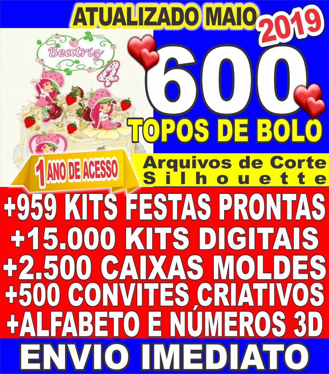 9f566c33e 600 Topos De Bolo Arquivos Silhouette +959 Kit Festas - R$ 18,99 em Mercado  Livre