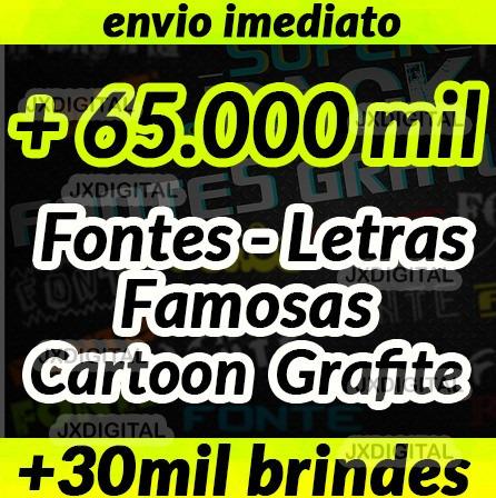f07196163 60.00 Letras - Fontes Famosas- Cartoon - Grafite Exclusivas! - R$ 10 ...