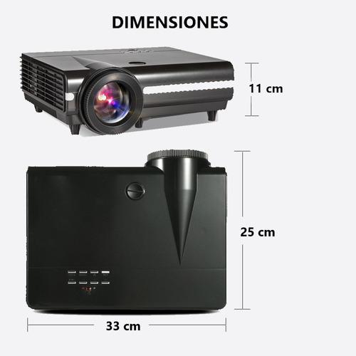 6000 lúmenes android 6.0.1 3d/4k proyector led multimedia