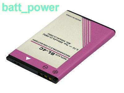 600mah batería bl - 4c para nokia 6100 6101 6102 6102i 6103