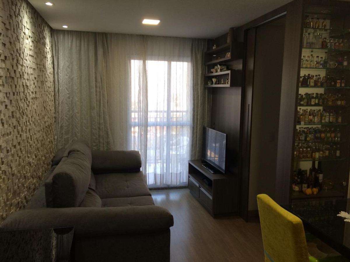 60m2, 2 dorms, suite, varanda, 1vaga, sbc