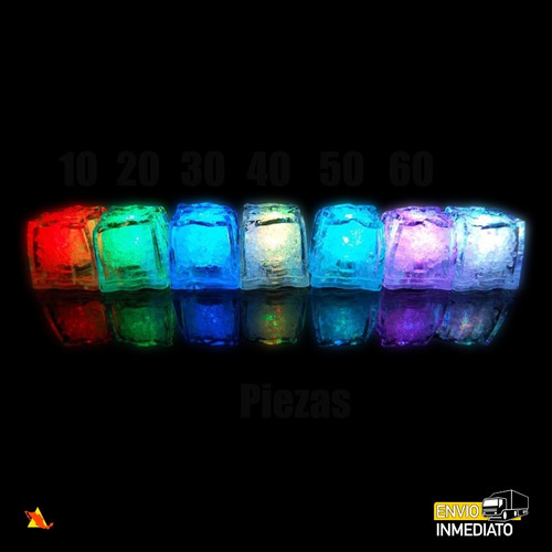60pzas. led rgb colores  tipo hielo sumergible