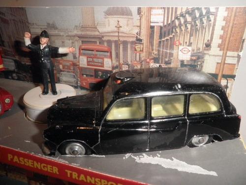60s set #35 corgi london bus taxi police c/caja autitos 1:43