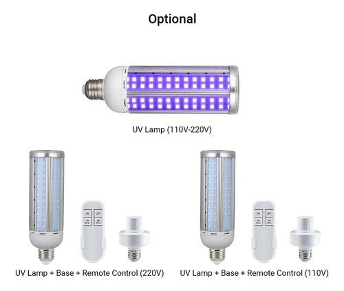 60w uv ster-ilizing lâmpada duplo efeito da luz uv e ozônio