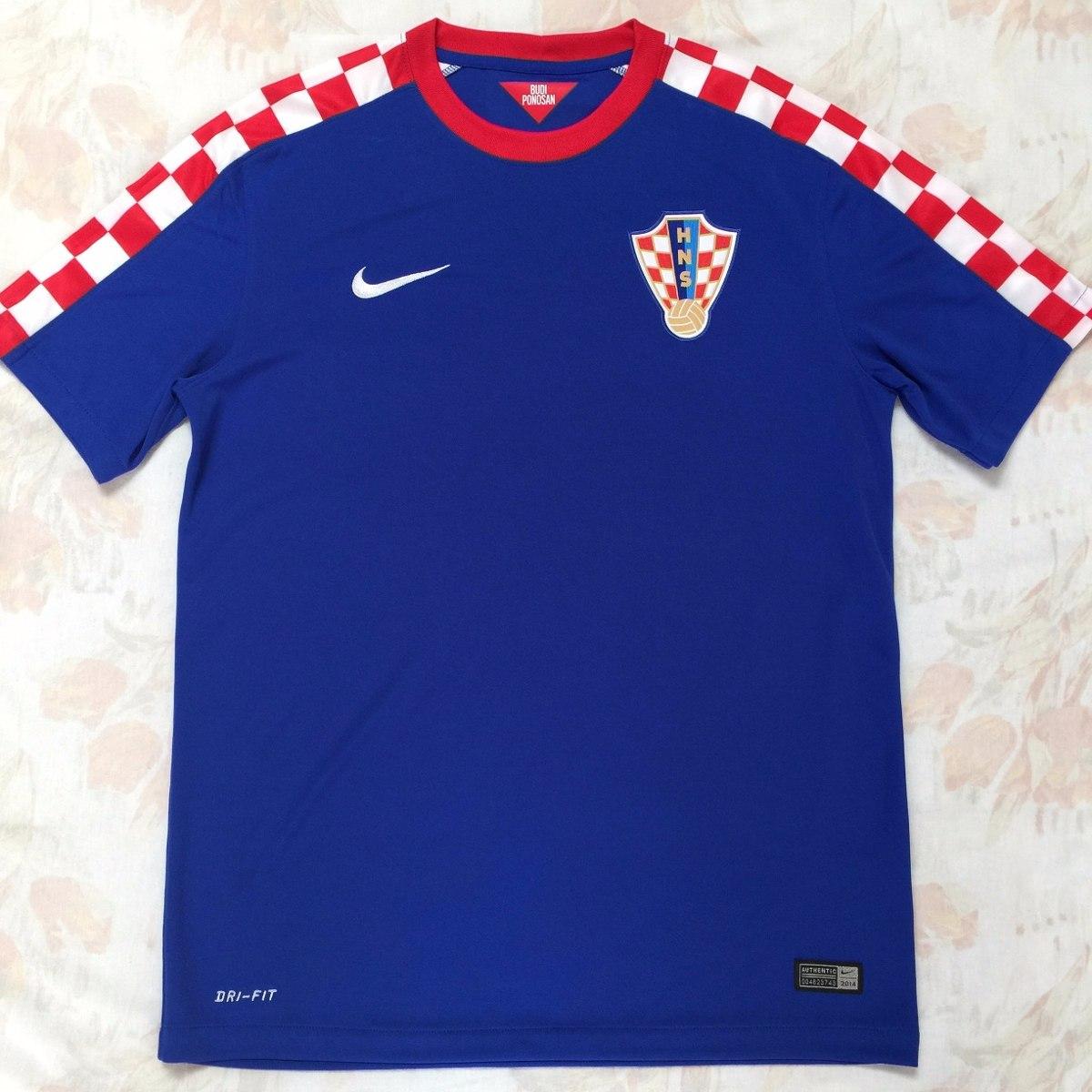 cb679196f 610808-471 Camisa Nike Croácia Away 2014 M Azul Fn1608 - R  1.499