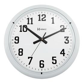 6129 Relógio Parede 40cm 3 Cores Preto Prata Branco Herweg