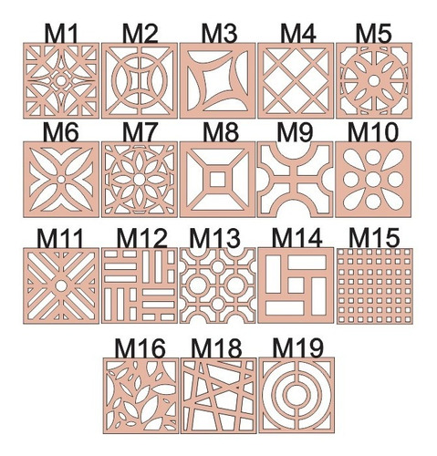 63 divisórias decorativas mdf cru 40 x 40 cm elemento vazado
