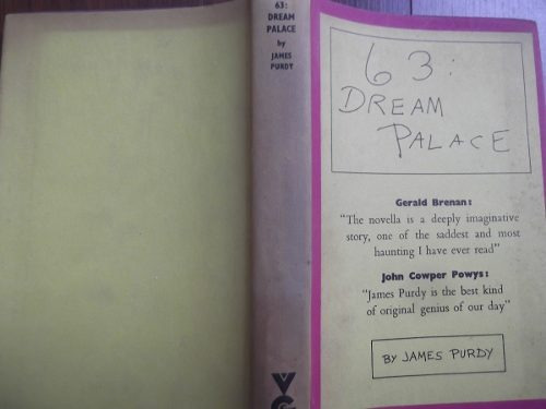 63 dream palace and 9 stories james purdy ingles tapa dura