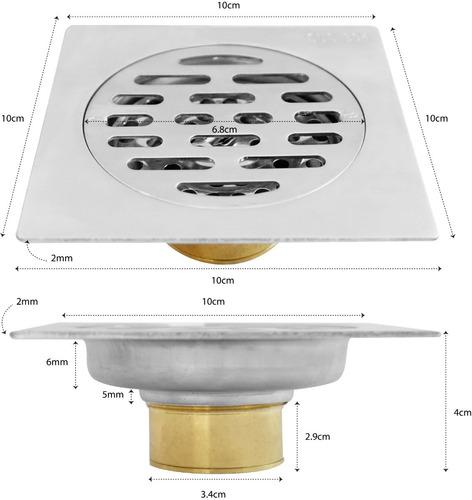 638g-5-2k coladera 10cm acero inox antiolores satín