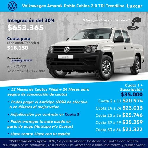$63.900 y cuotas fijas amarok 0km volkswagen anticipo 0% d-