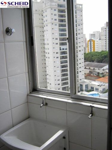 64 metros, 2 dormitórios, 1 vaga, armários, excelente localização - mc1549