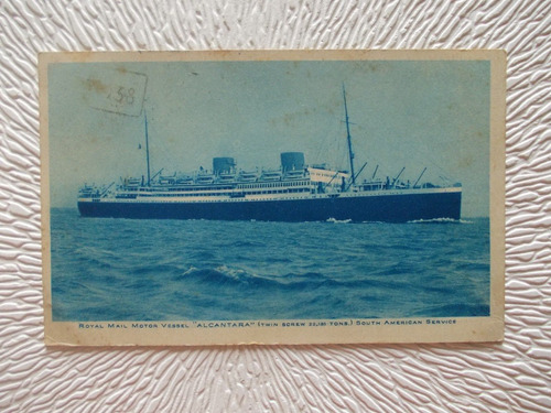 6440- postal royal mail- vapor alcantara -estampilla 1928