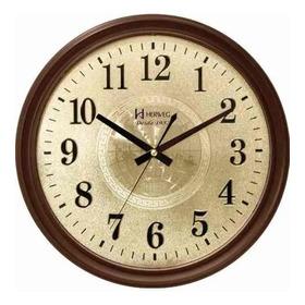 6468 084 Relógio Parede Marrom Retrô 35 Cm Silencioso Herweg