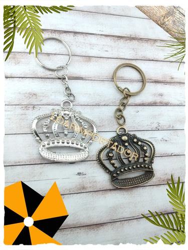 65 llaveros corona dorada plateada souvenir 15 años