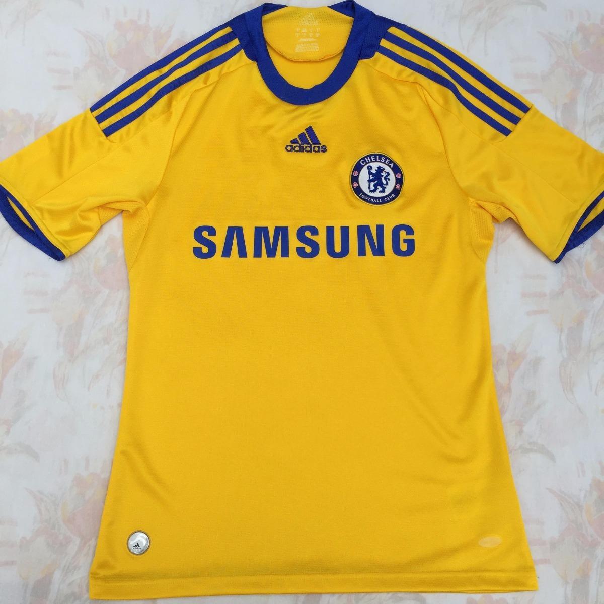 b5353b2aba74a 656118 Camisa adidas Chelsea Third 08 09 P Amarela Fn1608 - R  499 ...