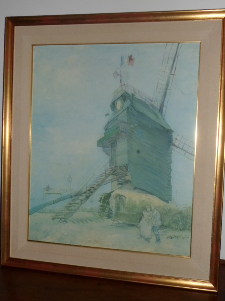 658 Cuadro Vincent Van Gogh Oleo Le Moulin De La Galette  # Vang Gogh Muebles