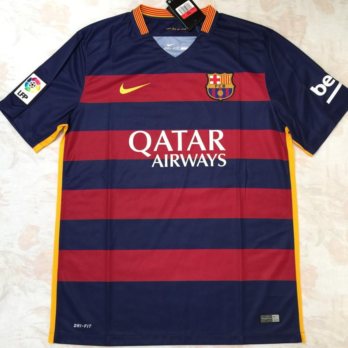 658794-422 Camisa Nike Barcelona Home 15 16 G Fn1608 - R  1.499 05f8b36427479