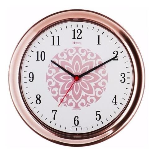 660013s relógio silencioso d parede rosê 30cm cozinha herweg