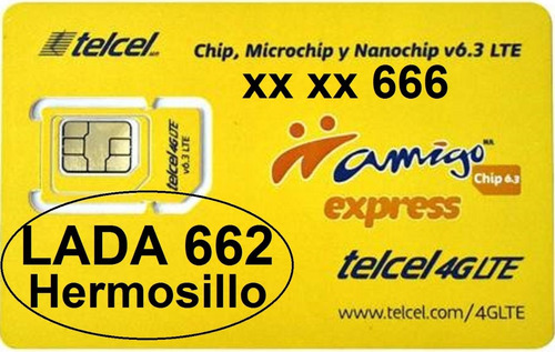 666 trío final lada 662 hermosillo chip telcel c/recrg prueb