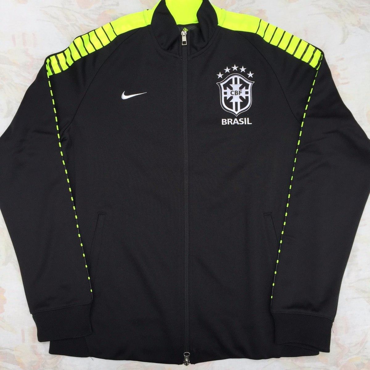 ed4de93a3b1e2 667019-010 Jaqueta Nike N98 Cbf Brasil G Preta Fn1608 - R  1.199