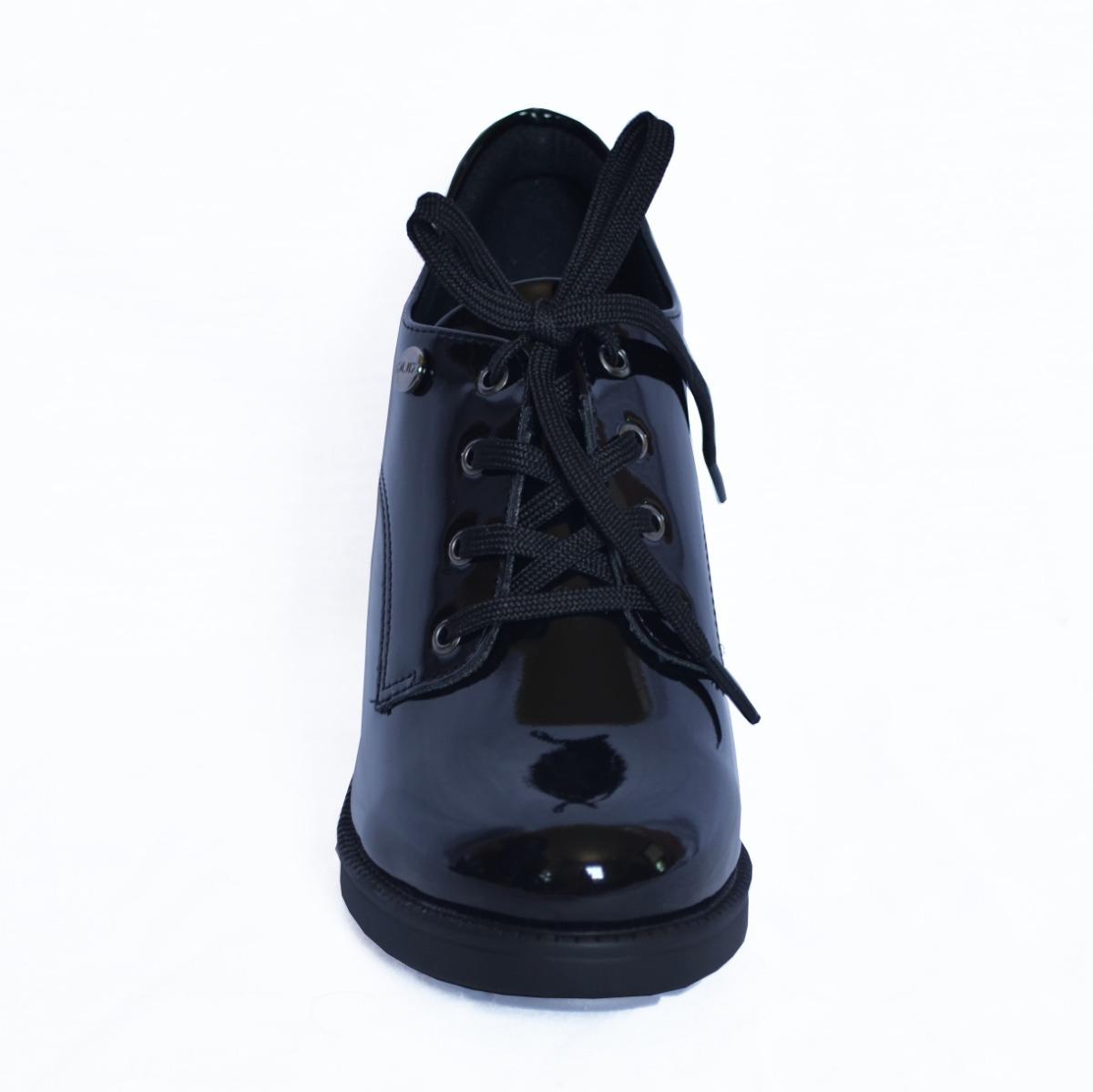 57f12dc81 ... sapato oxford preto verniz brilhante quiz 69-77102. Carregando zoom.
