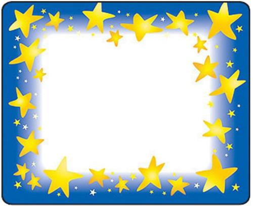 68022 estrellas etiquetas autoadheribles 36 piezas de trend