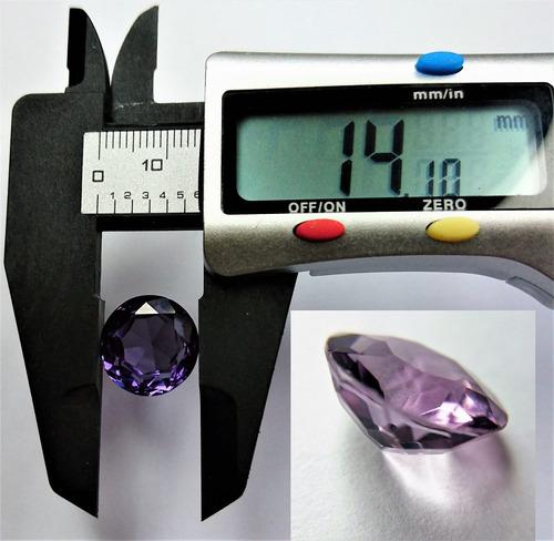 6.85ct amatista redonda 13x7,5mm corte tipo brillante piscis