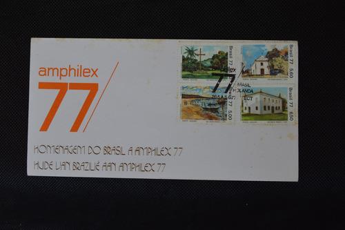 6924 fdc homenagem do brasil a amphilex 1977