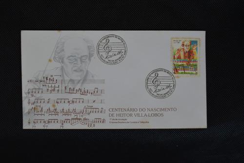 6935 fdc centenario do nascimento de heitor villa-lobos 1987